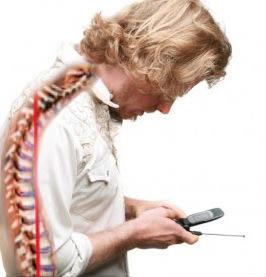 columna y uso del móvil